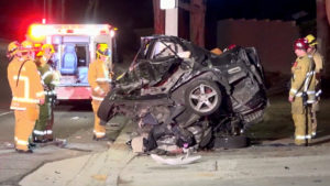 Driver Dies after Hitting Pole in Fullerton